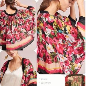 NWT Anthropologie Dolman-Sleeve Cropped Kimono